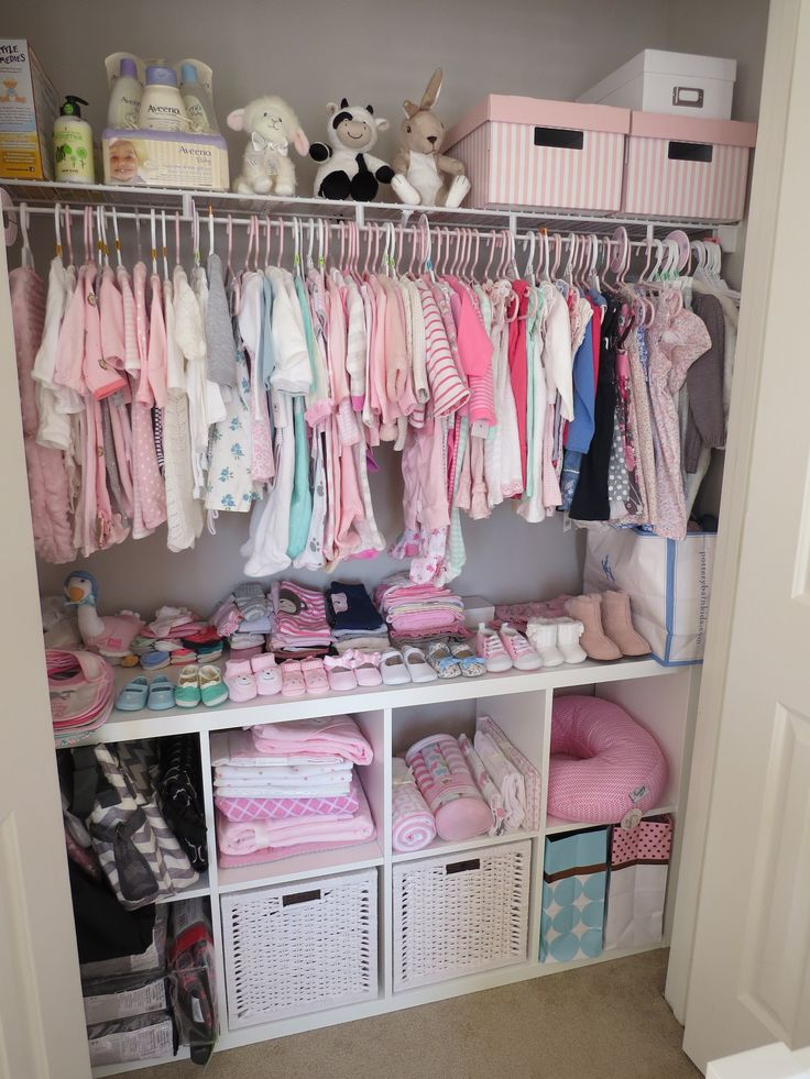 Baby closet Baby girl nursery Emilys nursery is ready for her arrival   The little ones