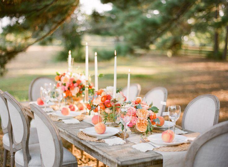 Photography: Justin DeMutiis Photography - justindemutiisphotography.com  Read More: http://www.stylemepretty.com/2014/03/28/peach-wedding-inspiration-full-of-color/
