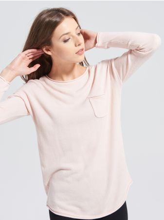 SINSAY - Sweter z kieszenią <br><br>Wzrost modelki: 180 cm<br>Rozmiar produktu: S