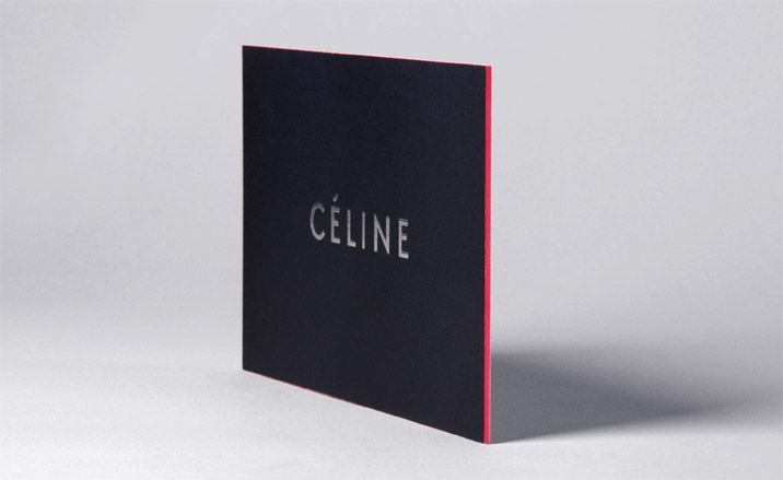 Thick black card with a fluorescent pink edge for Celine (2010 aw invitation)