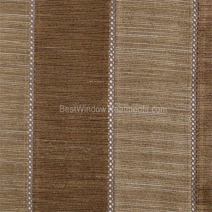 Tandora Stripe Drapery Curtain Panel In Chestnut Mocha
