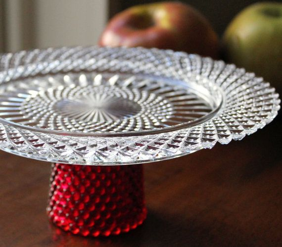 Cake Stand / Cupcake Stand Truffle Pedestal Mini 35.00 by TheRocheStudio