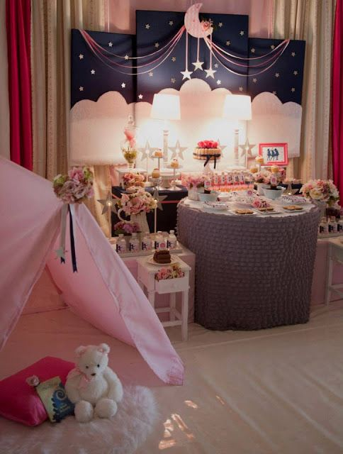 Little Big Company | The Blog: Sweet Dreams, A Starry Night Slumber Party by Sweet Memories Party Designs