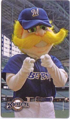 Milwaukee Brewers Mascot Bernie Brewer LETS GO BREWERS!!!!!!!!!!!!!!!!!!!!!!!!!