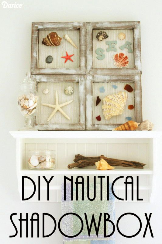 DIY Nautical Decor: Beach Themed Shadowboxes