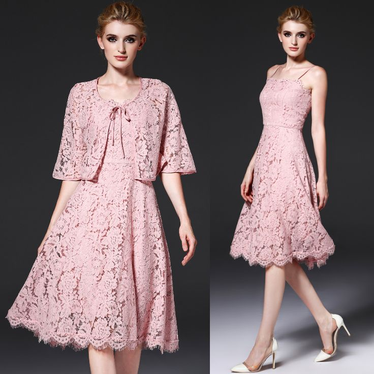 2016 Summer and Early Autumn Women Dress,Lace Slim Sexy Bodycon Dress Two Women Set,Halter Off Shoulder Black and Pink Vestidos