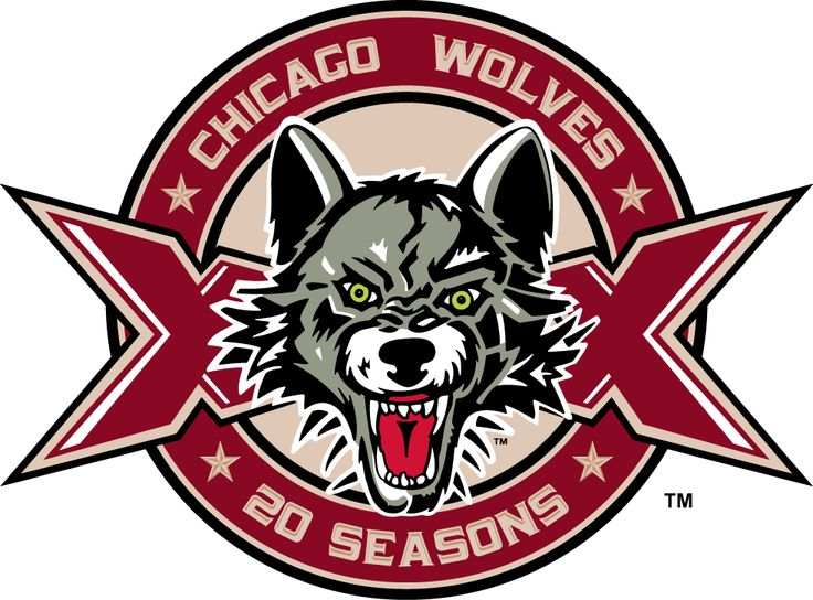 Chicago Wolves Logo | Chicago Wolves Anniversary Logo (2014) - Chicago Wolves 20th ...