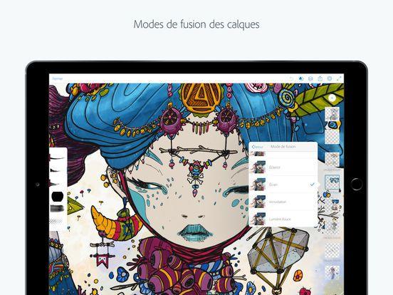 Adobe Photoshop Sketch Dans LApp Store