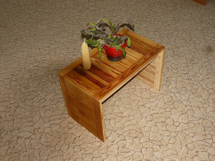 The table of doors. The table is made from old larch kitchen doors. - decorative table - Handmade -Josef Červenka-