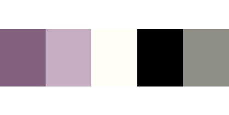 The color palette I want for my apartment. Purple, Lavender, Cream, Black, and Grey.