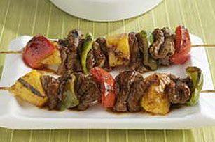 Teriyaki Steak Skewers recipe: Teriyaki Skewers, Teriyaki Steaks Skewers Recipe, Kraft Recipe, Steaks Kabobs, Steaks Skewers Thos, Skewers Beef, Dinners, Skewers Steaks, Skewers Recipe On