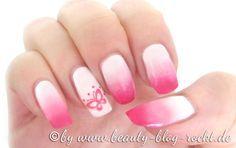 Gradient Nails - Nägel mit Farbverlauf weiß zu pink