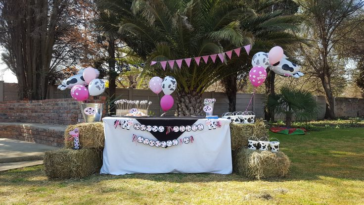 Cow Birthday Party Table Setting