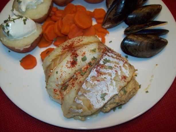 This truly is so tasty and impresses everyone who has had it. I chop everything and then it comes together easily. I am not sure where I even got this recipe it has been so long. I have used haddock, cod, flounder and orange roughy and they all were great with this recipe.
