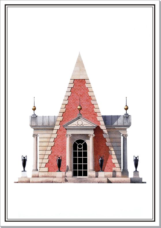 Andrew Zega and Bernd H. Dams, watercolor, Poltow, Pyramid