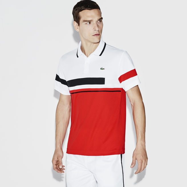 Men's Sport Ultra-Dry Color block Tennis Polo