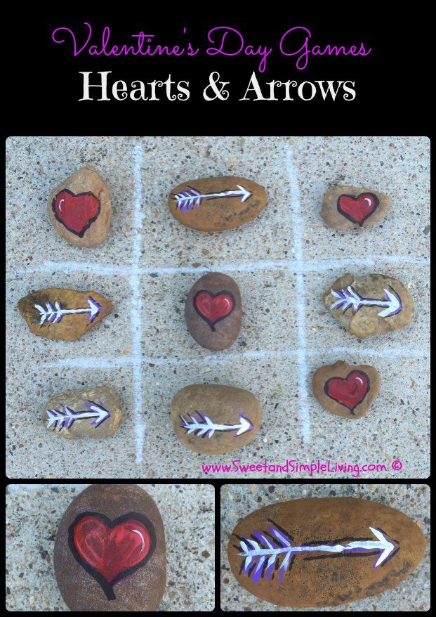 Valentine's Day Games: Hearts and Arrows - a simple, yet fun game that's perfect for kids!