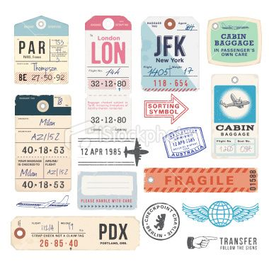 old fashioned suitcase tags - Google Search