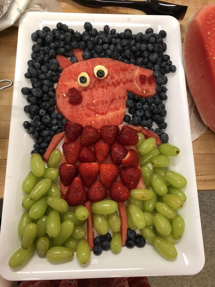 ¡Hice este plato de frutas Peppa Pig para el quinto cumpleaños de mi sobrina! – #Esta g   – Baby-Tagebuch