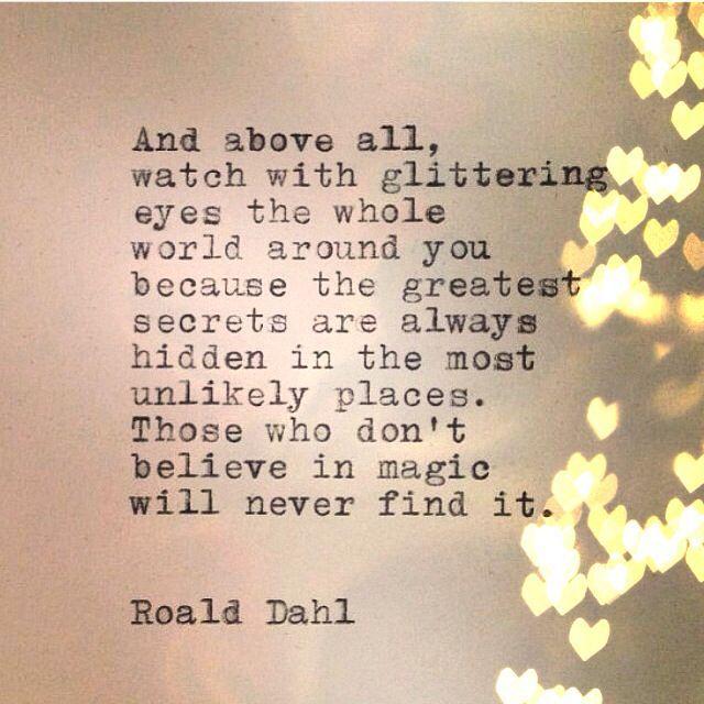 Quotes About Magic Roald Dahl. QuotesGram