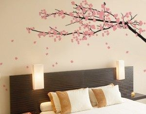Cherry tree on the wall