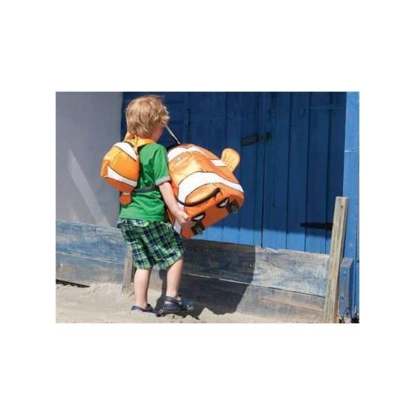 Valise enfant Poisson Clown à roulette de Little Life - 55€