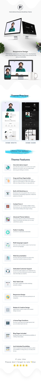 Porfo Minimal Personal Wordpress Theme Wordpress Theme Portfolio Wordpress Theme Creative Wordpress Themes