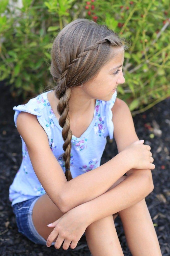 Waterfall Twist Into Rope Braid Cute Girls Hairstyles