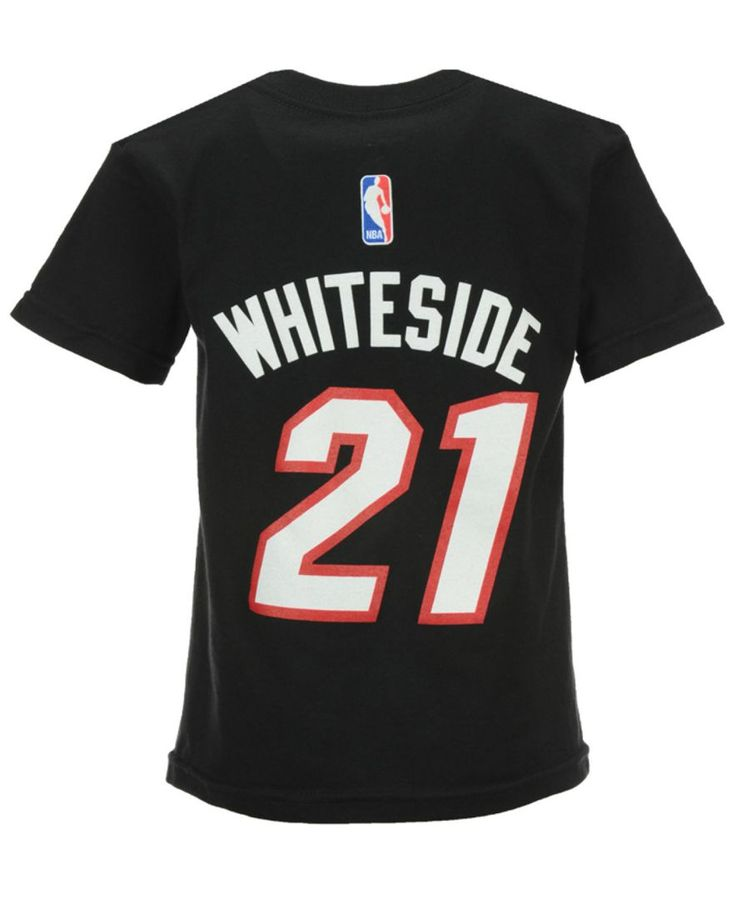 adidas Toddlers' Hassan Whiteside Miami Heat Name And Number T-Shirt