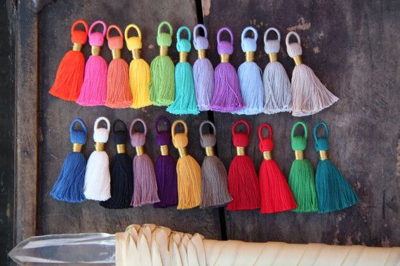NEW Colors Tasseltastic: 8 Handmade Cotton by WomanShopsWorld