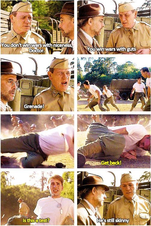 """""""He's still skinny."""" XD This was one of the best parts in the movie! Yes, Steve, it's a test, and you just passed with an A+! :D"""