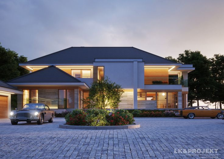 LK&1312 - http://lk-projekt.pl/lkand1312-produkt-9627.html  #project #houseproject #house #modern #architecture #polisharchitecture #homesweethome #singlefamilyhouse #exterior #build #dreamhome #dreamhouse #design #villa #residence