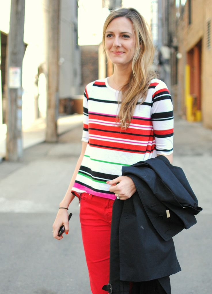 loving the stripes with those pants