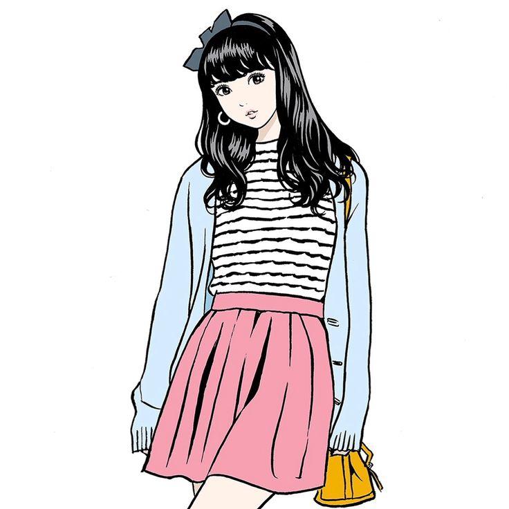 "2,566 Likes, 13 Comments - 江口寿史 EGUCHI HISASHI (@eguchiworks) on Instagram: ""Jun.2017 #illustlation #artwork #manga  #bandedessinee #comicart"""