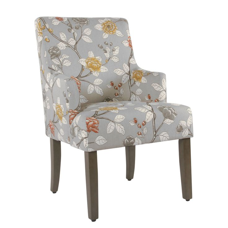 Meredith Dining Chair - Dove Floral | Upholstered dining ...