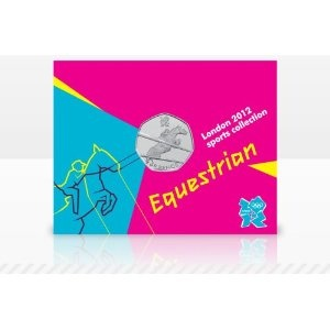 Price: $13.99 - Olympics The Royal Mint London 2012 Sports Collection Equestrian 50p Coin - TO ORDER, CLICK THE PHOTO