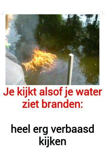 water zien branden