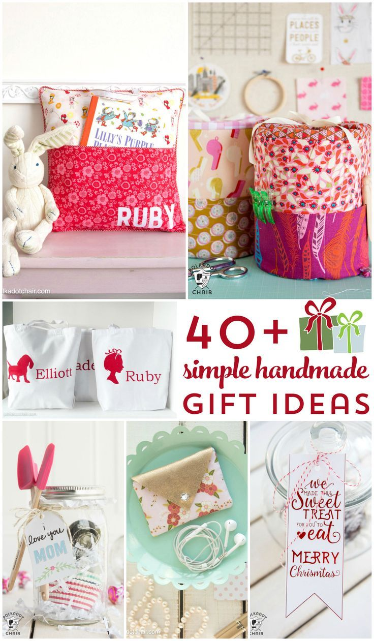 More than 40 ideas for cute handmade gifts. Perfect for Christmas or any other t...