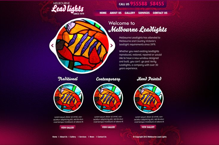 Website for Melbourne Leadlights by omg!