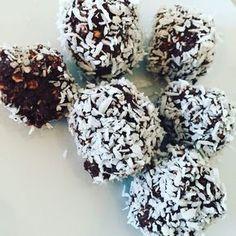 chokladbollar med banan, nyttiga chokladbollar, småkakor recept