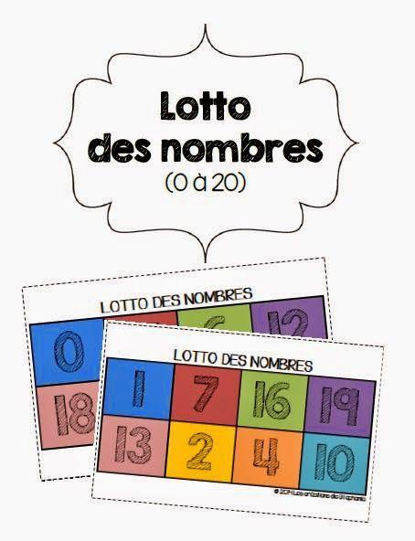 Les créations de Stéphanie: Le loto des nombres