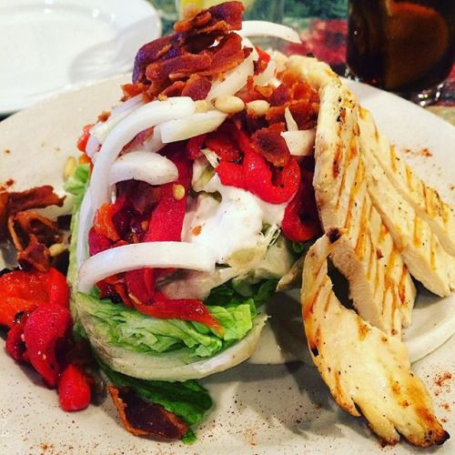 Wedge salad with grilled chicken for lunch! #keto #ketodiet #ketogenic #ketosis #ketogenicdiet #weightloss #weightlossjourney #lchf #lowcarb #lowcarbhighfat #fattofit #lowcarbliving #motivation #inspiration #lifestylechange #atkins #atkinsdiet #ketofam #ketoliving #ketolifestyle #ketolife #ketogenicdiet #lowcarbdiet #lowcarblifestyle #lowcarblife #lunch #yum #yummy #italianfood - Inspirational and Motivational Ketogenic Diet Pins - Eat Keto Get Into Nutritional Ketosis - Discover LCHF to…