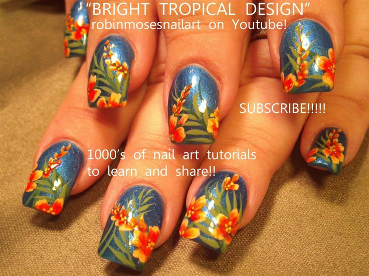 robin moses needs a vacation tutorial - Nail Art Gallery