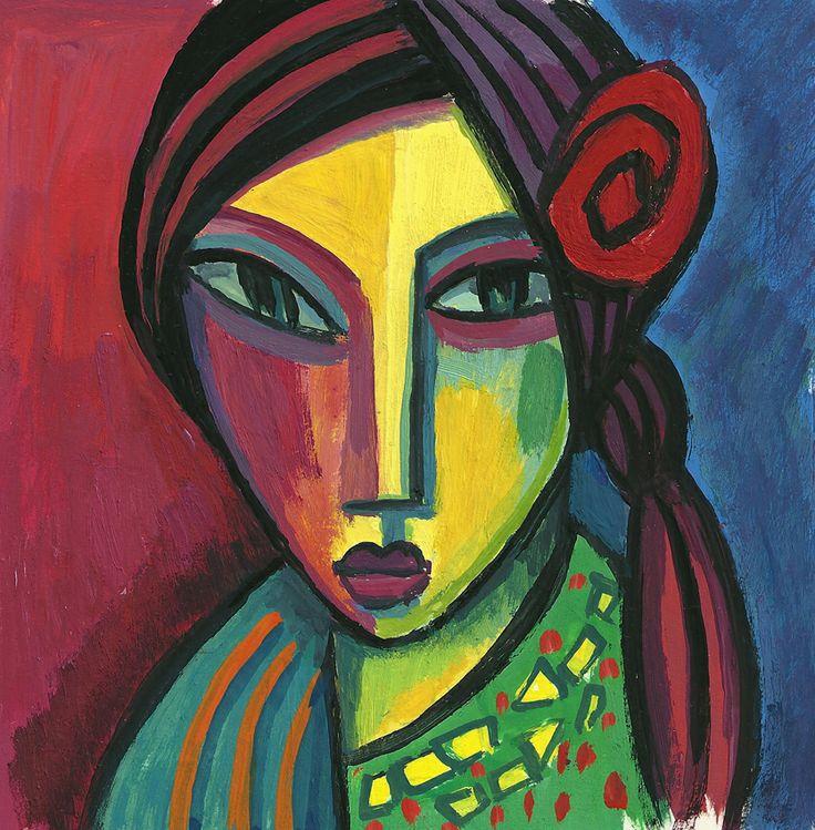 Mujer Gitana. Guillermo Martí Ceballos.   Retratos mujeres ...