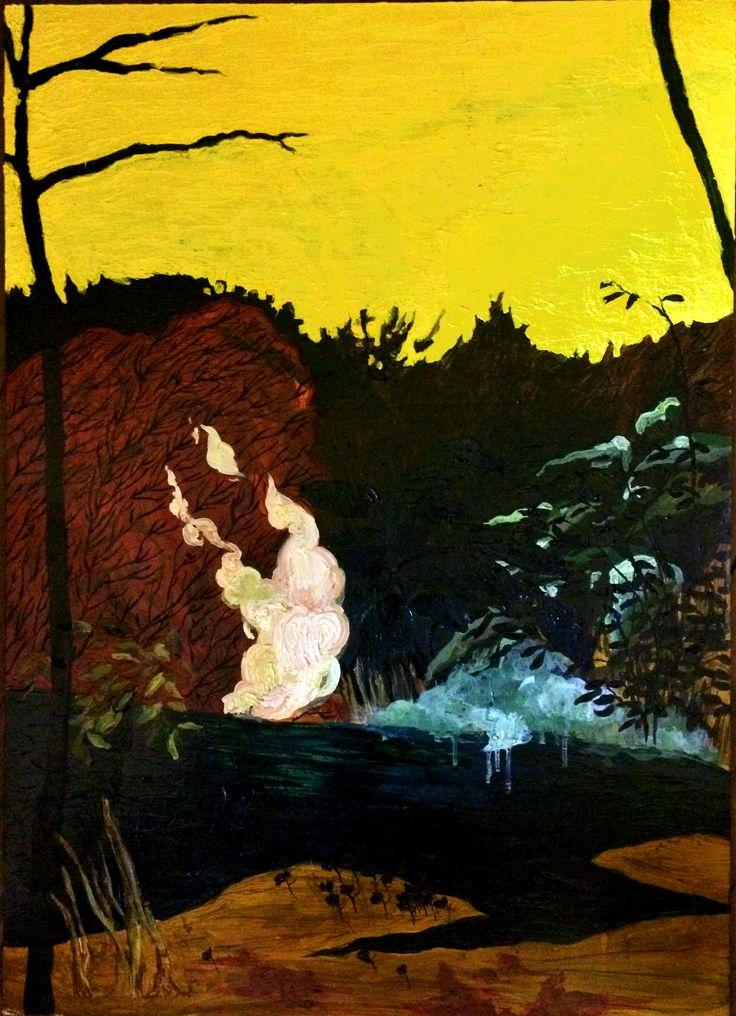 Juana Subercaseaux Tarde  óleo sobre madera 70 x 50 2016