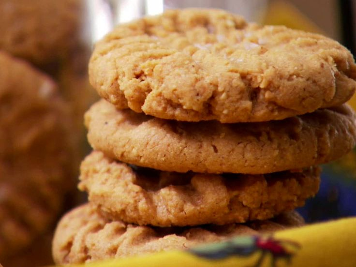 Flourless Peanut Butter Cookies from FoodNetwork.com: Ingredients, Peanuts, Fun Recipes, Flourless Peanut, Savory Recipes, Yummy, Peanut Butter Cookies, Super Simple, Favorite Recipes