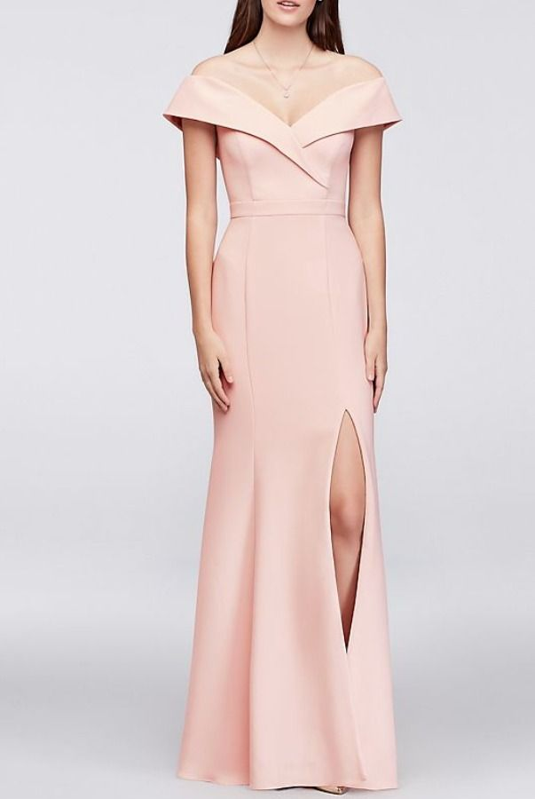 Xscape Womens Off-The-Shoulder Long Taffeta Dress