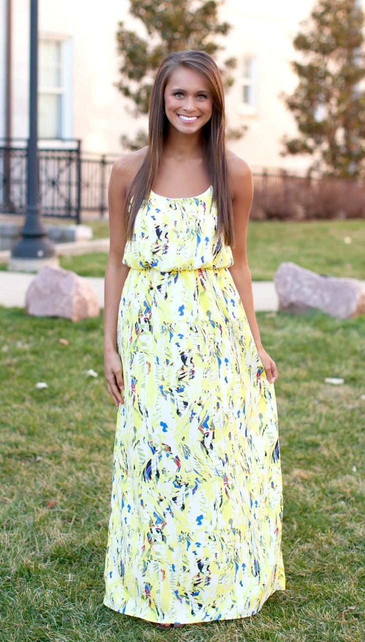 The Pink Lily Boutique - Beautifully Bold Maxi Yellow, $38.00 (http://thepinklilyboutique.com/beautifully-bold-maxi-yellow/)