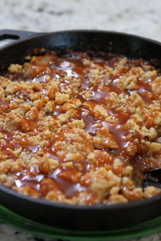 Salted Caramel Apple Crumble.... would be GREAT with some vanilla bean ice cream!