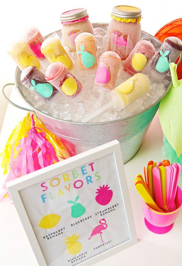 A cute way to designate ice cream or sorbet flavors
